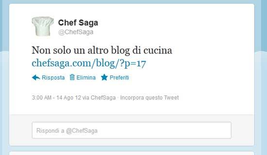 ChefSaga.com e Twitter