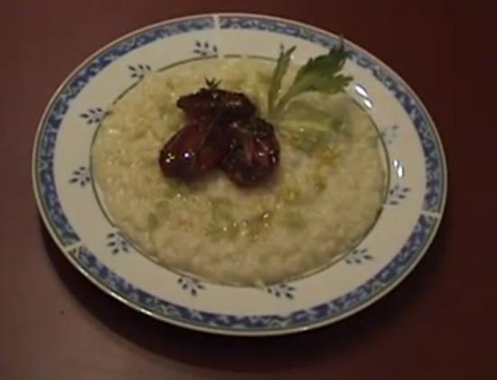 Risotto con crema di broccolo romanesco